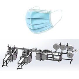 Flat Disposable 3 Ply Nonwoven Mask Making Machine